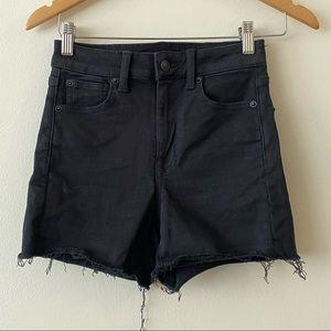 American Eagle super high rise shorts